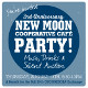 Poster for New Moon Cafe Anniversary party. 2015