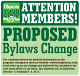 promotion for the proposed bylaws change