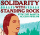 promotion for Standing Rock round up at registers
