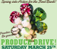 promotion for the produce drive. 2017
