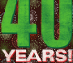 graphic for 40 years Celebration