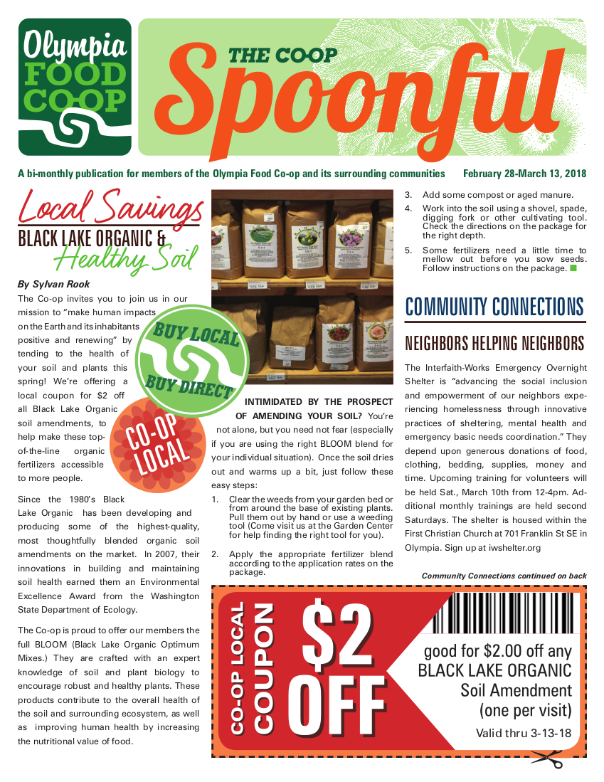 February 28 – March 13, 2018 | Olympia Food Co-op