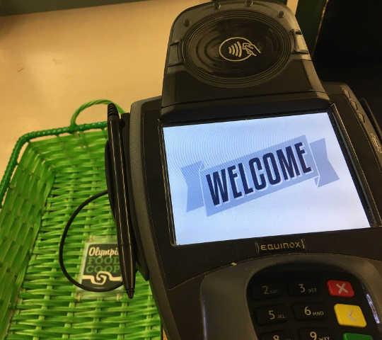 NFC reader now at Eastside | Olympia Food Co-op