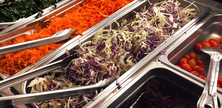 salad bar veggies. 2018