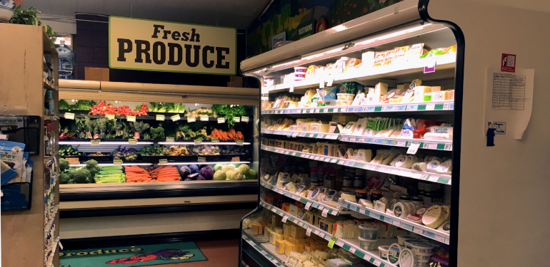 cheese and produce at the westside location