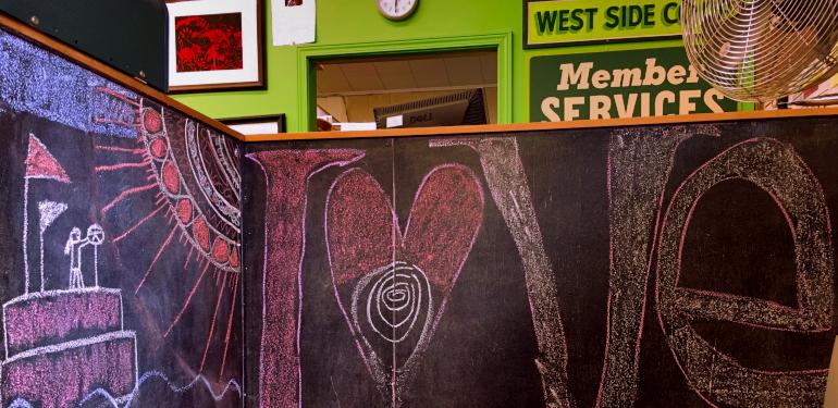kids chalk boards at the westside. 2018