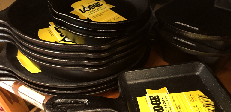 made in united states lodge cast iron pans at the westside