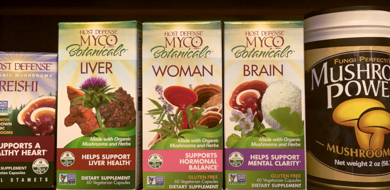 local company host defense and fungi perfecti in wellness department