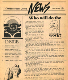 Co-op News Summer 1984 cover