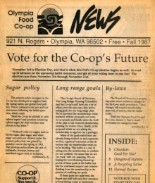 Co-op News Fall 1987 cover