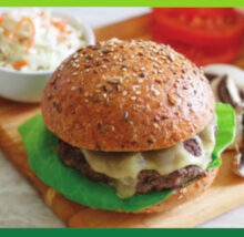 Burger recipe image. Copyright NCG