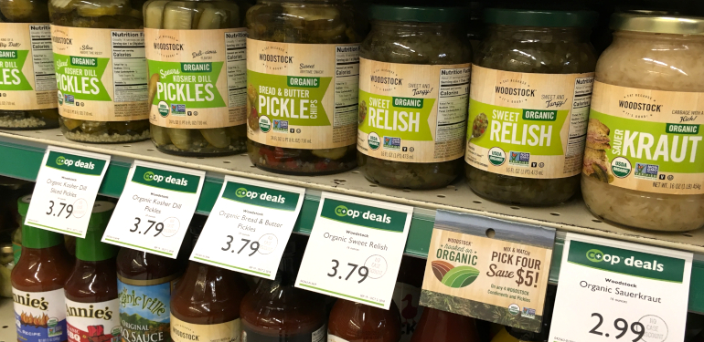 Example of Co-op Deals products in the store 2019