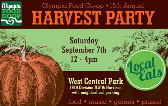 Co-op Harvest Party Poster 2019