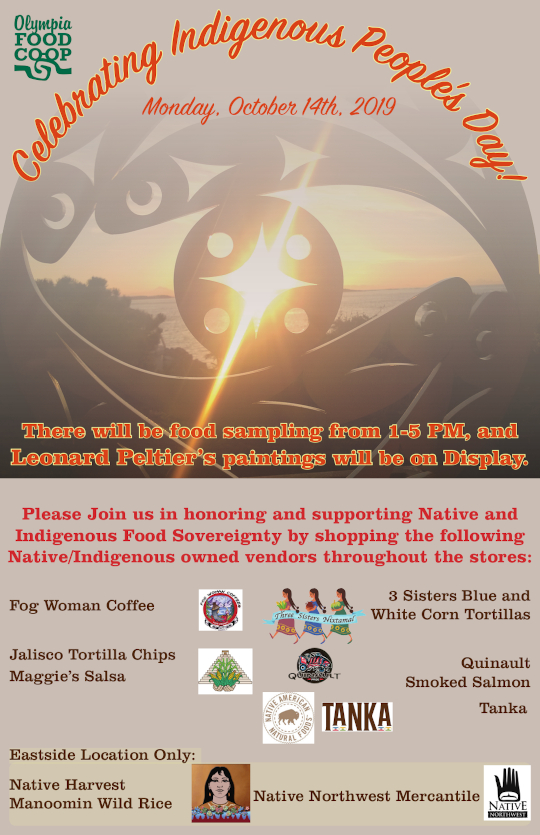 Celebrating Indigenous People's Day October 14, 2019 Poster