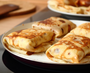 Image of Blintzes Stuffed with Sweetened Ricotta