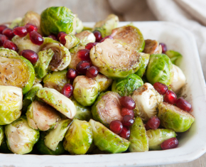 Image of Brussels Sprouts with Pomegranate Glaze