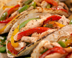 Image of Chicken Fajitas on the Grill