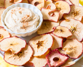 Image of Cinnamon Apple Chips with Dip