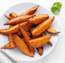 Image of Spicy Sweet Potato Wedges with Jalapeño Sour Cream