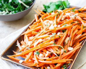 Image of Sweet and Spicy Carrots in Peanut Sauce