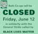 Closed Friday June 12 notice graphic
