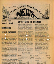 Co-op News Front Page December 1978
