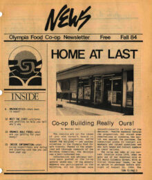 Cover of Co-op News, Fall 1984