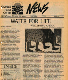 Cover of Co-op News Fall 1985