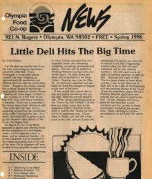 Cover of Co-op News, Spring 1986