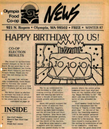 Cover of Co-op News Winter 1987