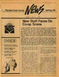 Cover of Co-op News Spring 1985