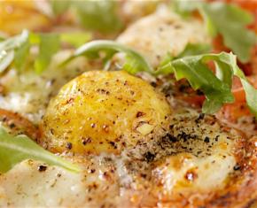 Breakfast Egg Margherita Pizza
