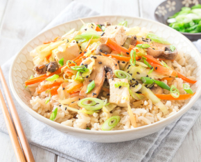 Egg Roll Bowl with Brown Rice