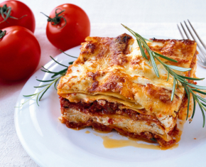 Turkey Sausage and Chevre Lasagna